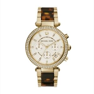 Michael Kors Gold Tortoise Shell Parker Watch